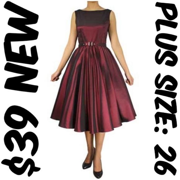 Cs Dresses Plus Size Pin Up Clothing Party Dress Formal 26 Poshmark